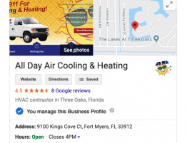 all day air cooling and heating google reviews